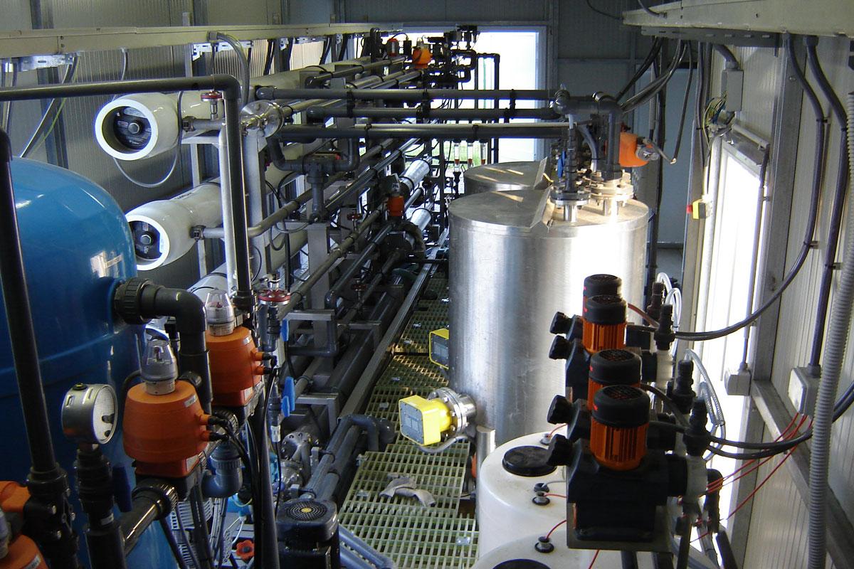 Impianto di scarico liquido zero