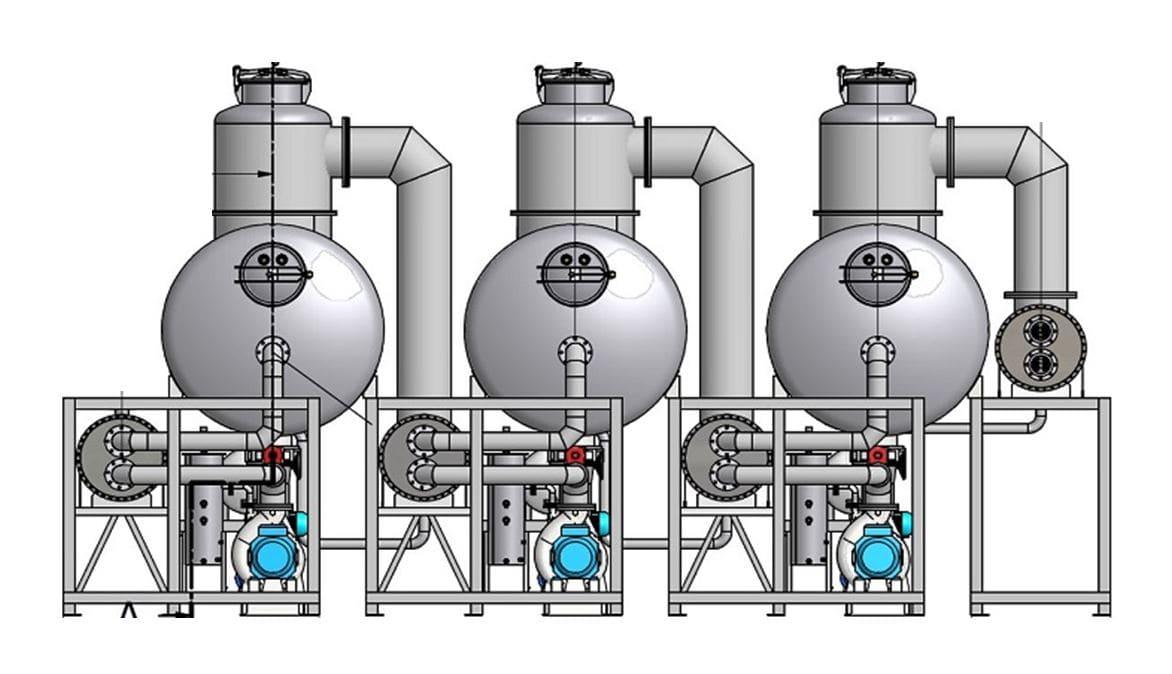 Evaporatori sottovuoto e a multiplo effetto